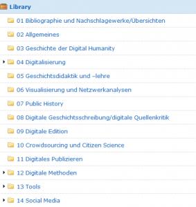 Zotero Bibliographie Digitale Geschichte